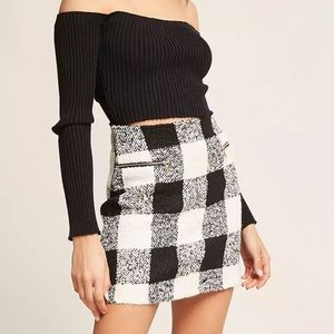 🔥 NWT Trendy Forever 21 checkered/plaid skirt